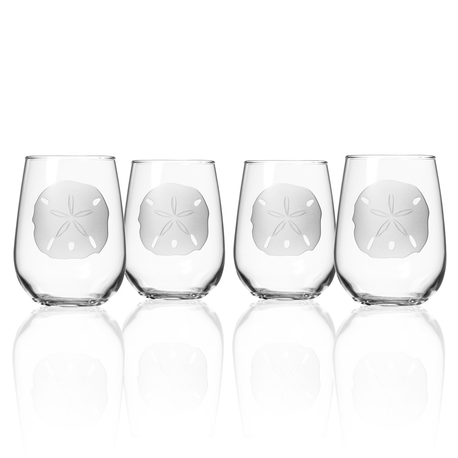 Perfect for beach living - Sand Dollar stemless tumblers