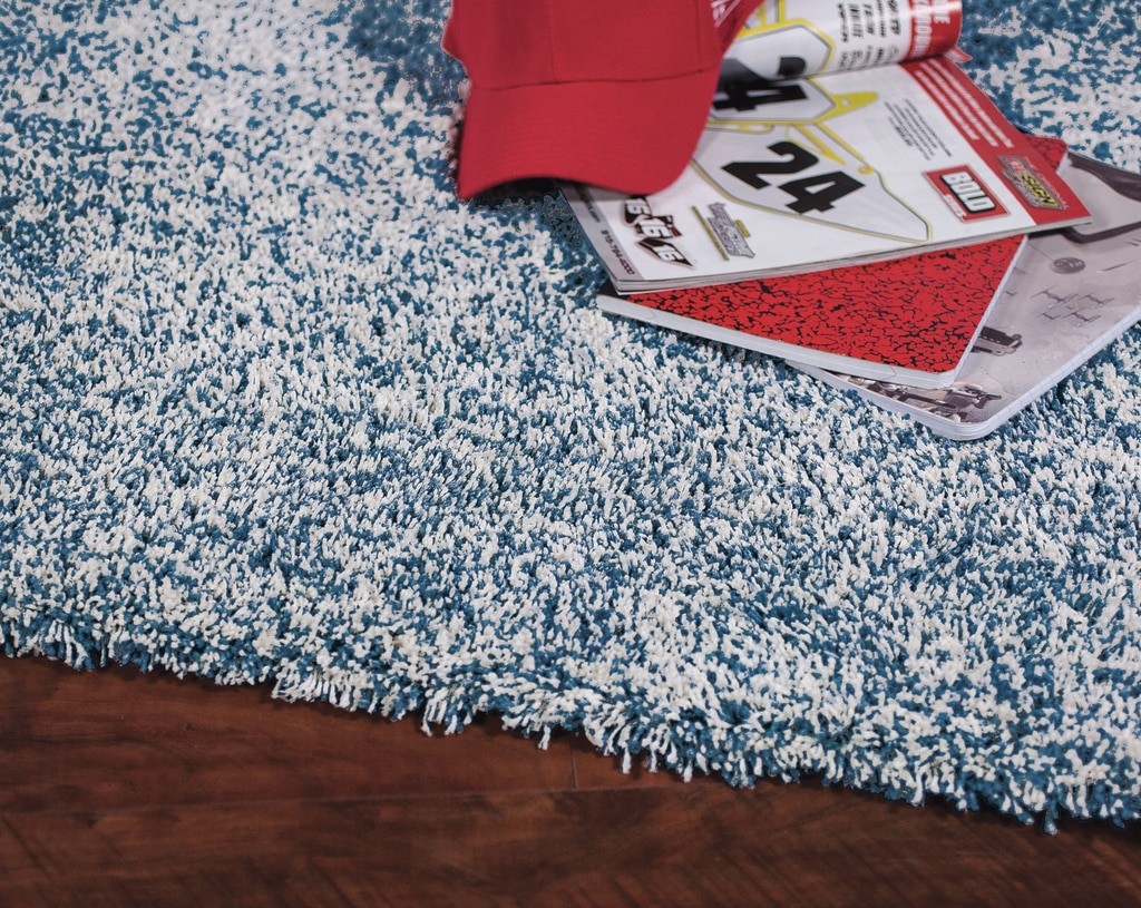 Indigo and Ivory Seashore Bliss Shag Rug