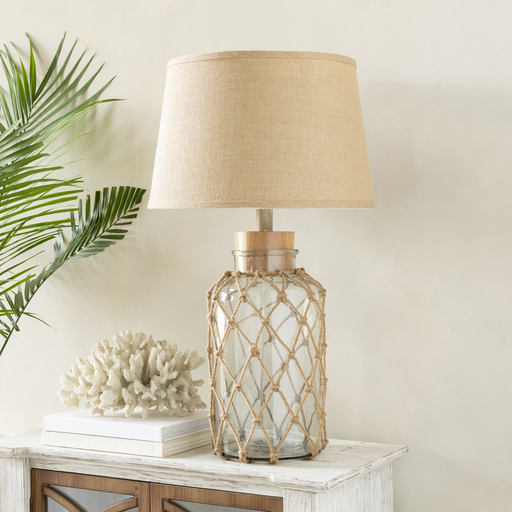 Pale Blue Glass Lamp