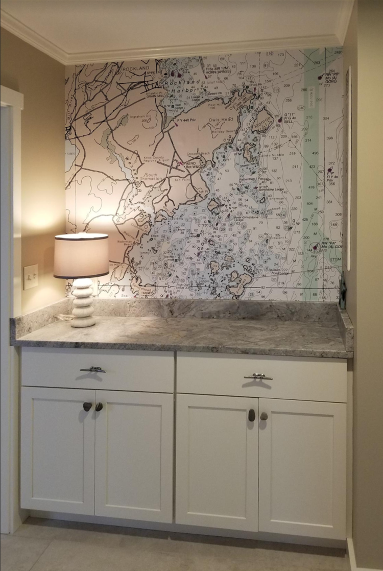 How To Decorate With Nautical Charts Caron S Beach House