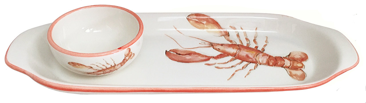 Lobster Tray and Dip Set